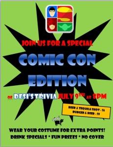 trivia comic con edition