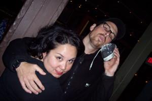 Tisha Tumangan and Grey Hubbard at our very 1st Black Kat Fundraiser.  October 2006
