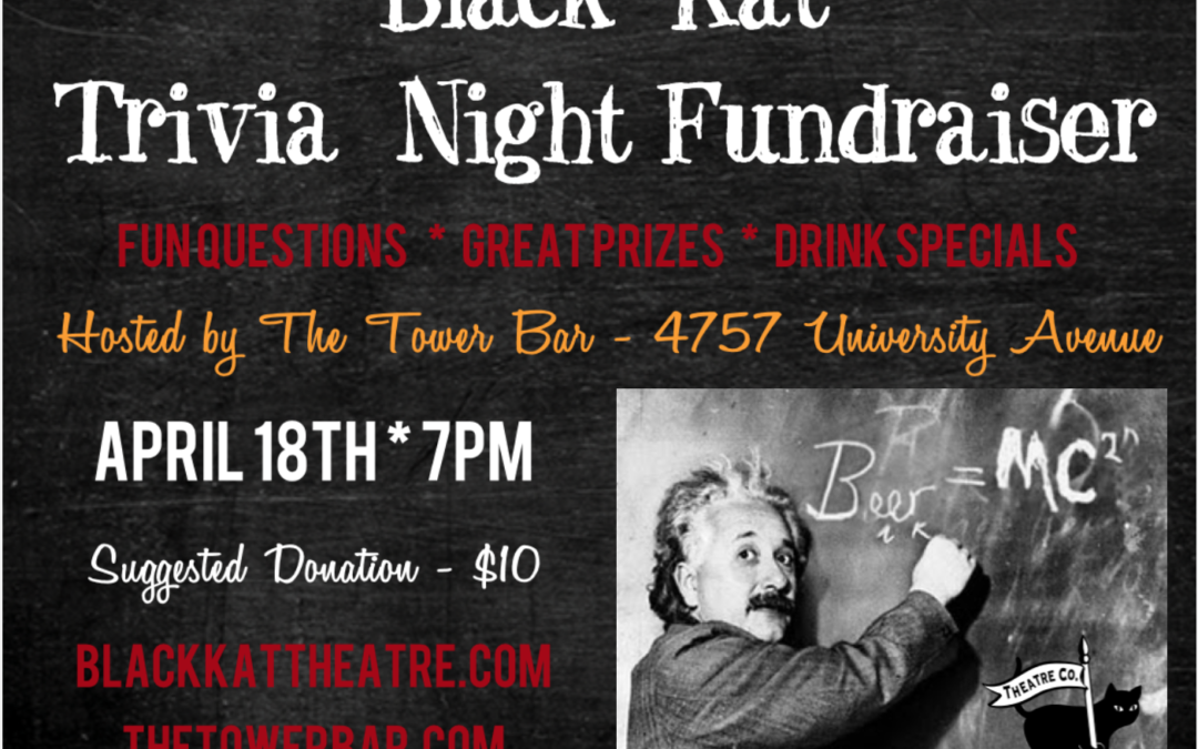 Trivia Night Fundraiser, Tonight at Tower Bar!